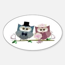 Wedding Owls Art Decal