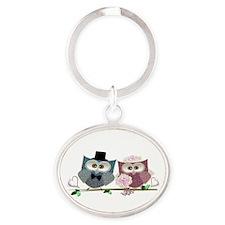 Wedding Owls Art Keychains