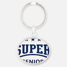 Super Senior (Blue) Oval Keychain