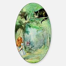 Alice in Wonderland the Cheshire Ca Sticker (Oval)