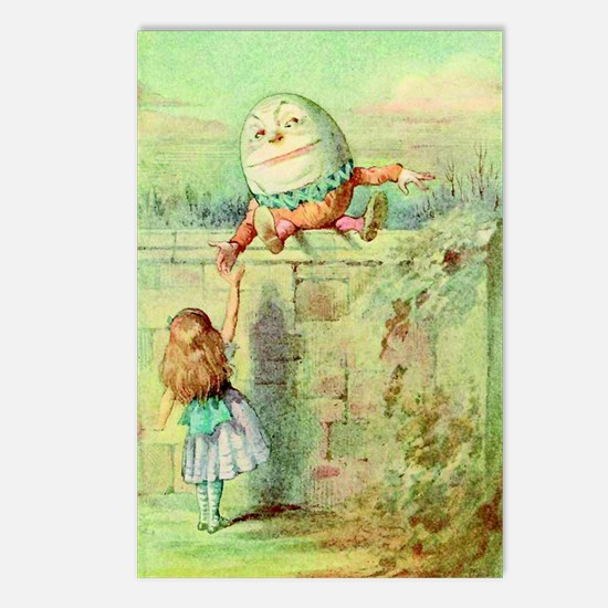 Alice and Humpty Dumpty c Postcards (Package of 8)