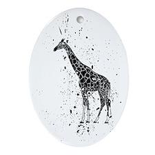Spotted Giraffe Oval Ornament