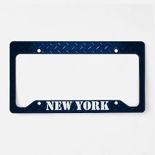 New York Diamond Plate License Plate Holder