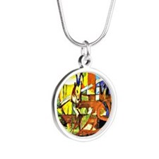 Franz Marc: Gazelles Silver Round Necklace