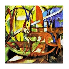 Franz Marc: Gazelles Tile Coaster