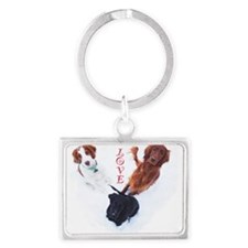 3 dogs=Love Keychains