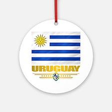 Uruguay Flag Round Ornament
