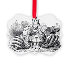 Queen Alice Wonderland illustrati Ornament