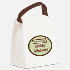 Labelno soliciting.png Canvas Lunch Bag