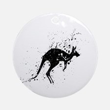 Spotted Kangaroo Round Ornament