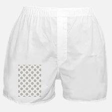 Big Polka Dots 5x7 W Natural Boxer Shorts