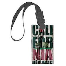 California Republic Flag Paint P Luggage Tag