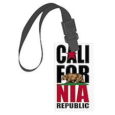 California Flag Stacked Republic Luggage Tag