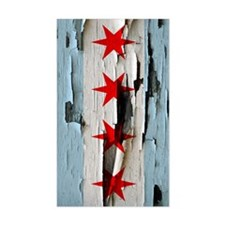 Chicago Flag Paint Peel Decal
