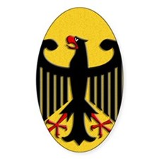 German Eagle Yellow Leather Bumper Stickers