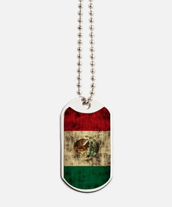 Flag of Mexico Grunge Distressed Dog Tags