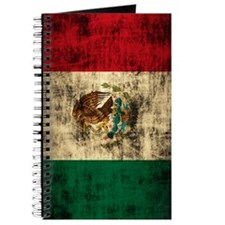 Flag of Mexico Grunge Distressed Journal