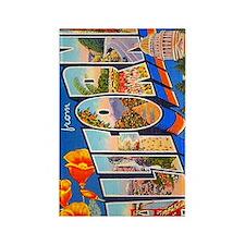 California Vintage Postcard Rectangle Magnet