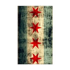 Chicago Flag Grunge Distressed Decal