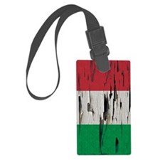 Italian Flag Damask Pattern Pain Luggage Tag