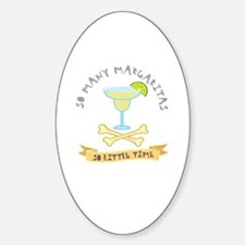 Margarita Lover Oval Decal