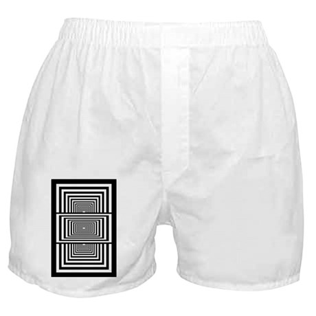 Optical Illusion Rectangles Boxer Shorts