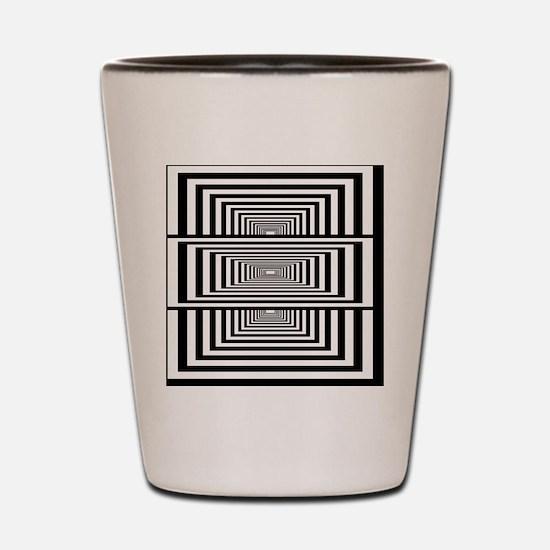 Optical Illusion Rectangles Shot Glass