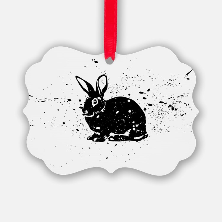Spotted Rabbit Ornament