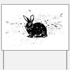 Spotted Rabbit Yard Sign