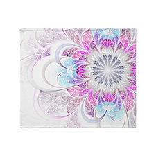 Unique Fractal Flower Throw Blanket