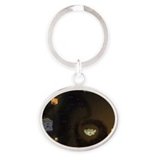 Minecraft outside the box Oval Keychain