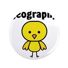 "Geography Chick 3.5"" Button"