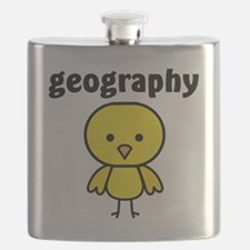 Geography Chick Flask