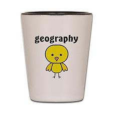 Geography Chick Shot Glass