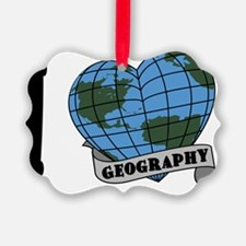 I Love Geography Ornament