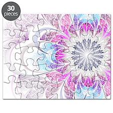 Unique Fractal Flower Puzzle