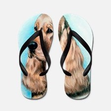 English Cocker Spaniel Dog Flip Flops