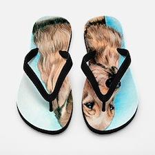 English Cocker Spaniel Dog Flip Flops