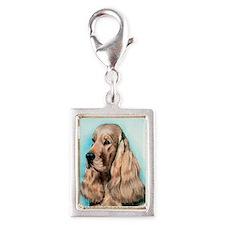 English Cocker Spaniel Dog Silver Portrait Charm