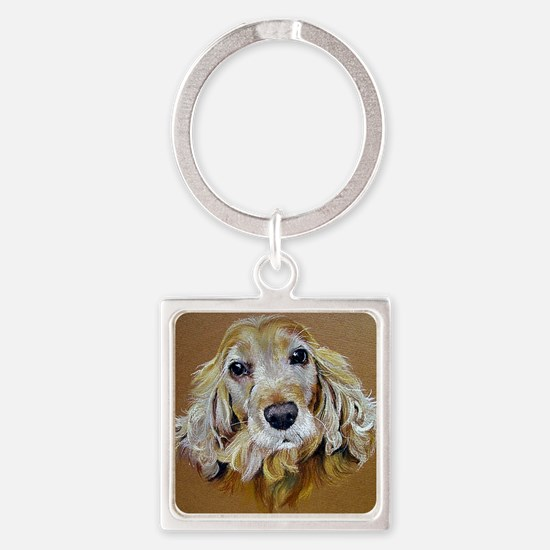 English Cocker Spaniel Dog Square Keychain