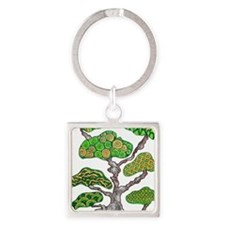 Bonsai Square Keychain
