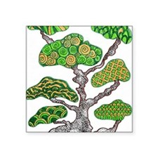 "Bonsai Square Sticker 3"" x 3"""