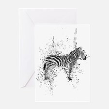 Spotted Zebra Greeting Card