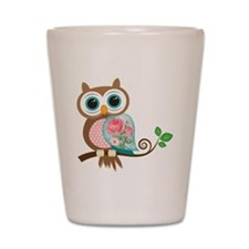 Vintage Owl Shot Glass