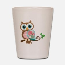 Vintage Owl Shot Glass