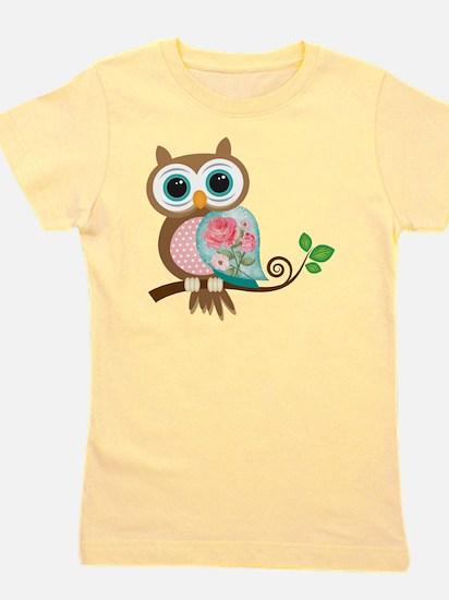 Vintage Owl Girl's Tee