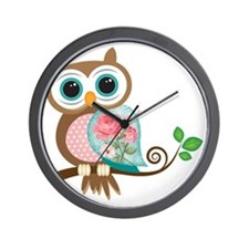 Vintage Owl Wall Clock