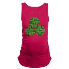 triskele Neon Green Maternity Tank Top
