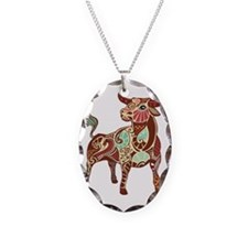 Taurus Necklace Oval Charm