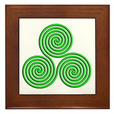 triskele Neon Green Framed Tile